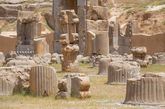 Die Ruinen von Persepolis.