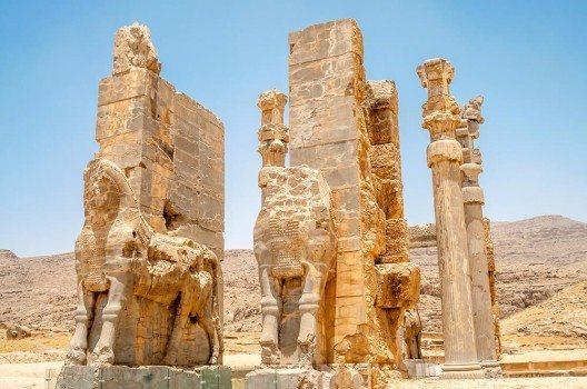 Die Tore von Persepolis. Einst eine Hochburg der Kultur.