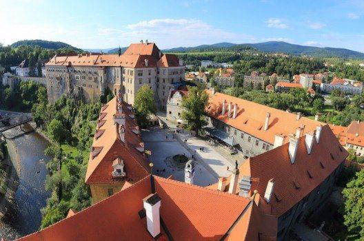 Das Schloss Krumau ist eine der grössten Schlossanlagen Tschechiens.