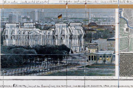Der verhüllte Reichstag – von der Idee bis zur Durchführung des Projekts vergingen 24 Jahre. (Bild: Wolfgang Volz, © 1995 Christo)