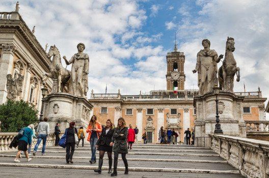Das Kapitol ist zwar der kleinste, aber einer der wichtigsten der sieben Hügel Roms. (Bild: Andrei Rybachuk – shuttershock.com)