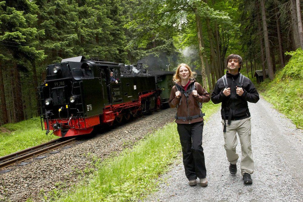 Fichtelbergbahn bei Kretzscham-Rothensehma (Bild: © Tourismusverband Erzgebirge e.V./ R. Gaens)