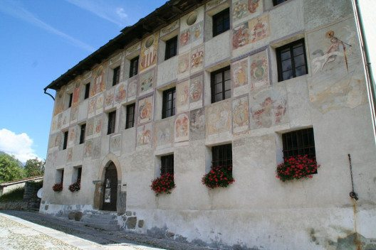"Casa Landvogti (Palazzo del Pretorio) in der Gemeinde Acquarossa (Bild: © Parpan05 / Wiki / <a title=""creativecommons.org - Creative Commons"" href=""https://creativecommons.org/licenses/by-sa/3.0/deed.en"" target=""_blank"">CC</a>)"