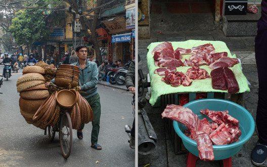 Ein Vietnamese ist nichts ohne sein Fahrrad und hält nichts von Lebensmittelkühlung. (Bild: © Bettina Hielscher)