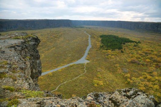Die sagenumwobene Schlucht Ásbyrgi erinnert von der Form her an ein grosses Hufeisen. (Bild: © Marisa Estivill - shutterstock.com)