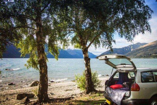 In einem Kombi sechs Wochen zu zweit durch Neuseeland