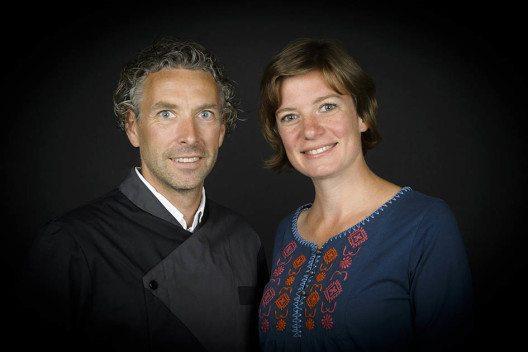 Neue Gastgeber im Hotel Alpenruh: Sarah Hillebrenner und Martin Göschel. (Bild: schilthorn.ch)