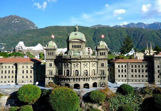 Das Bundeshaus in Bern – Modell bei Swissminiatur. (Bild: Andres Passwirth, Wikimedia, CC)