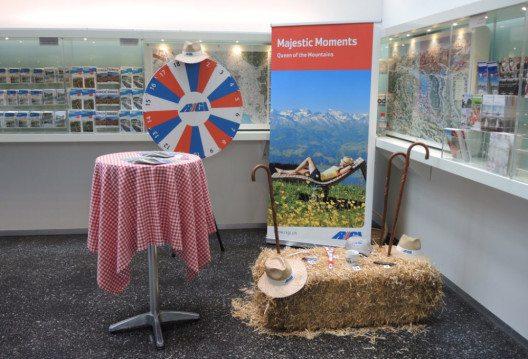 Präsentation der Rigi in der Tourist Information am Zürcher. (Bild: © RIGI BAHNEN AG, Julia Ehrler)