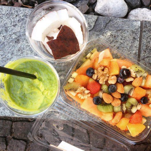 Vegane Nahrung gibt Power für die nächsten Etappen auf dem Sattel. (Bild: © Stefanie Hertel)