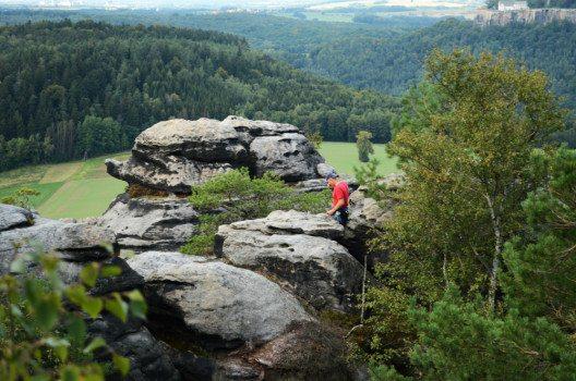 Eine tolle Aussicht haben die Kletterer ja. (Bild: © Julia Schattauer / bezirzt.de)