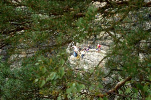 Ein Eldorado für Kletterer: Das Elbsandsteingebirge. (Bild: © Julia Schattauer / bezirzt.de)
