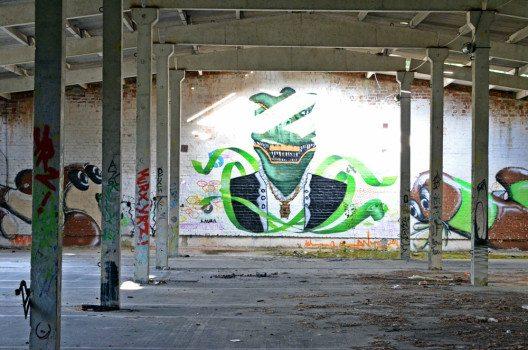 Die Überbleibsel des Street-Art-Festivals. (Bild: © Julia Schattauer / bezirzt.de)