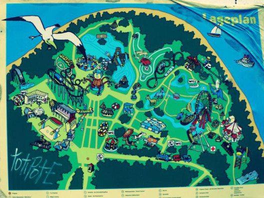 Der Plan des alten Vergnügungsparks. (Bild: © Julia Schattauer / bezirzt.de)
