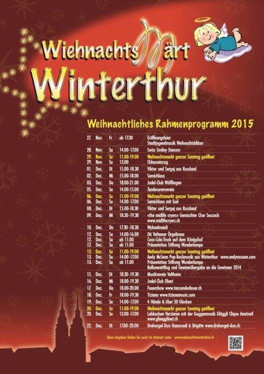 In Winterthur findet zum 19. Mal einer der schönsten Weihnachtsmärkte der Schweiz mit einem einmaligen Rahmenprogramm statt. (Bild: © www.weihnachtinwinterthur.ch)