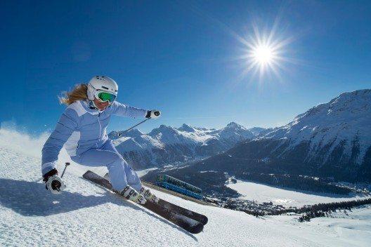 AUDI FIS Ski Worldcup Finals auf der Corviglia (Bild: © ENGADIN St. Moritz By-line: swiss-image.ch - Christof Sonderegger)