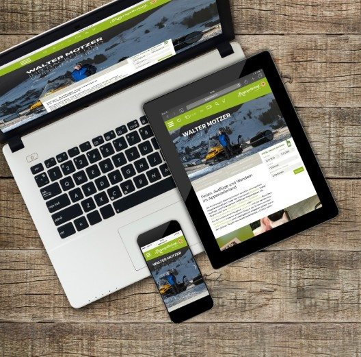 Hinter «appenzell.ch» verbirgt sich die neuste Technik: Die Seite ist mit einem responsive Design aufgebaut für eine optimale Darstellung auf Desktop, Tablet und Smartphone. (Bild: © Appenzellerland Tourismus AI)