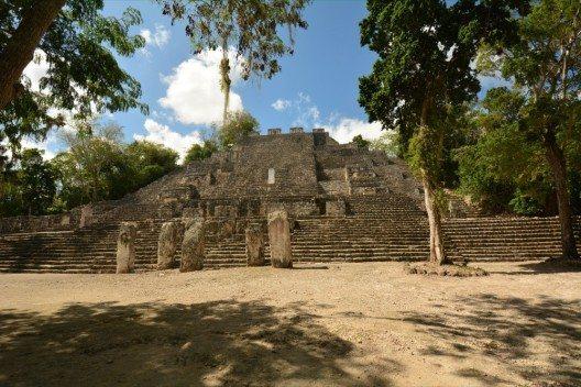 Hauptpyramide von Calakmul (Bild: © Yucatán Dive Trek/Christoph Hoppe)