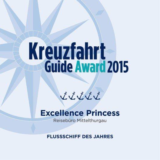Award Flussschiff des Jahres Excellence Princess (Bild: © obs/Reisebüro Mittelthurgau Fluss- und Kreuzfahrten)