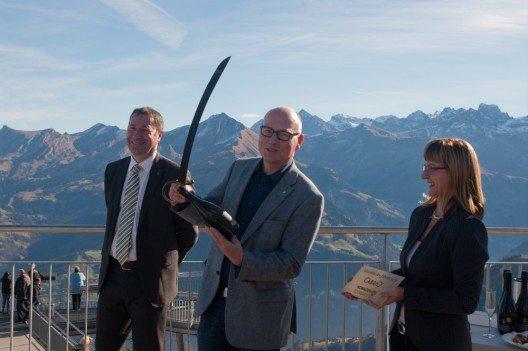 Regierungsrat Othmar Filliger, Jürg Balsiger, Stanserhorn-Bahn und Erna Blättler-Galliker, Nidwalden Tourismus