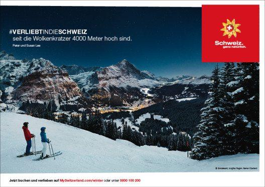 Verliebt in die Schweiz...beim Nachtskifahren (Bild: © Schweiz Tourismus)