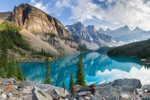 Mit Landschaften wie dieser können sich die Rocky Mountains leicht mit europäischen Gebirgen messen.