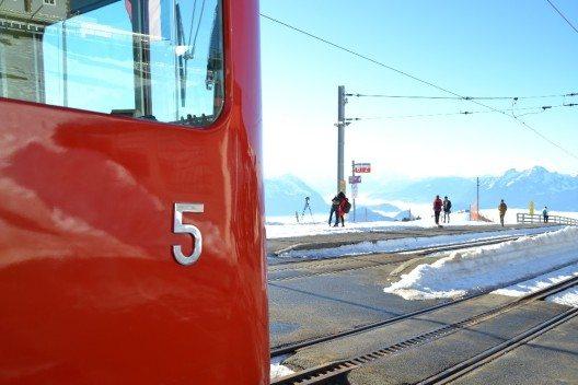 Seit 1965 ist der Triebwagen Nr. 5 auf den Strecken der Rigi Bahnen für die Gäste im Einsatz.
