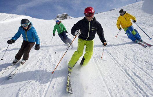 Spass beim Skifahren (Bild: Michael Portmann)