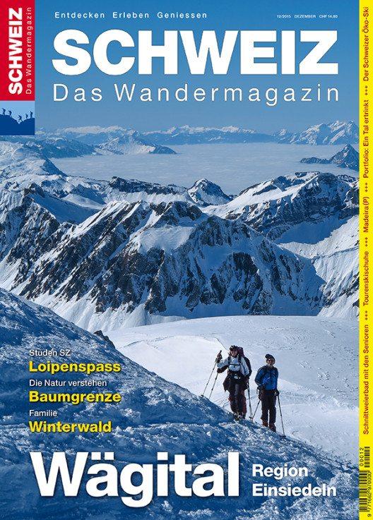 """Die Ausgabe """"Wägital – Einsiedeln"""" des Wandermagazins SCHWEIZ ist ab sofort erhältlich. (Bild: © obs/Wandermagazin SCHWEIZ)"""