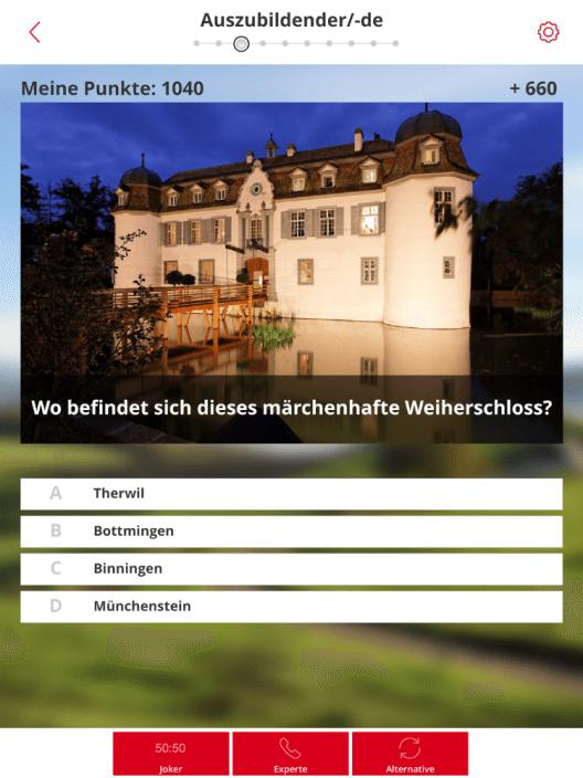 Screenshot der Quiz-App (Bild: Baselland Tourismus)