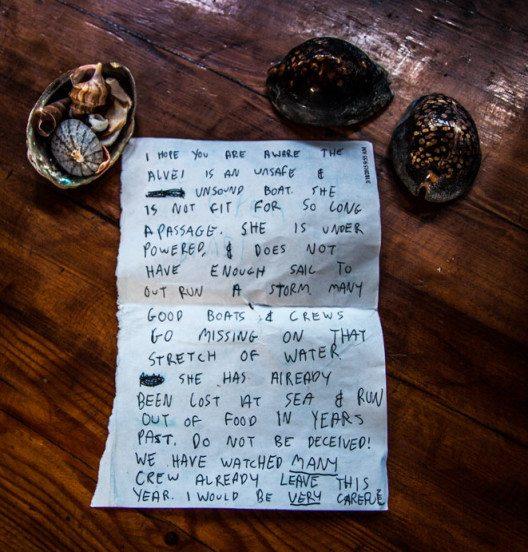 Ein anonymer Warnbrief