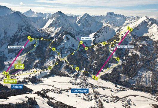 Der Streckenverlauf (Bild: Tannheimer Bergbahnen)