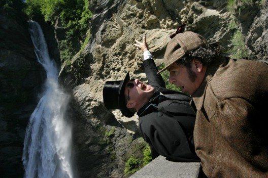 Kampf um Leben und Tod am Reichenbachfall (Bild: © Haslital Tourismus)