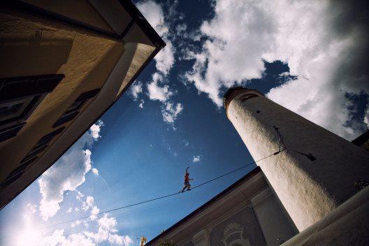 Hoch hinaus beim Adventure Outdoor Fest (Bild: © Matteo Allegro)
