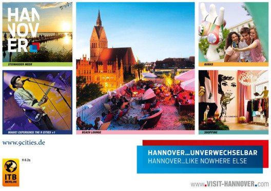 Hannover unverwechselbar – Werbekampagne zur ITB (Bild: © obs/Hannover Marketing und Tourismus GmbH/HMTG)