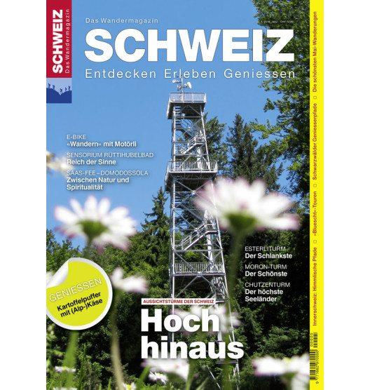 Cover Wandermagazin SCHWEIZ, Ausgabe 5/2016 Aussichtstürme (Bild: © obs/Wandermagazin SCHWEIZ/Philipp Bachmann)