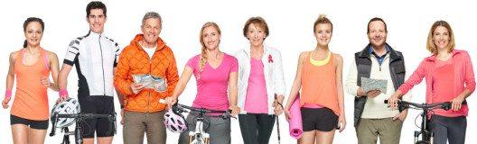 Schweizer prominente Persönlichkeiten unterstützen die Pink Ribbon Aktion. (Bild: 2C Communication GmbH / Mirjam Kluka)