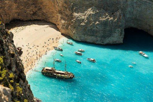 Navagio Strand in Zakynthos (Bild: Region of Ionian Islands)