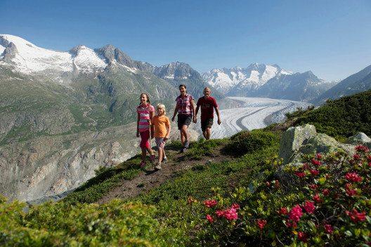 Cooles Familienferien-Abenteuer in der Aletsch Arena (Bilder: Christian Perret)