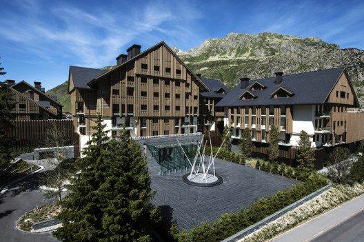 Das Fünf-Sterne-Deluxe-Hotel im Urserental (Bild: The Chedi Andermatt)