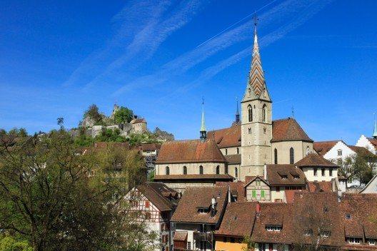 Auf Platz 2 folgt Baden im Kanton Aargau (Bild: © Giuliano Del Moretto - shutterstock.com)