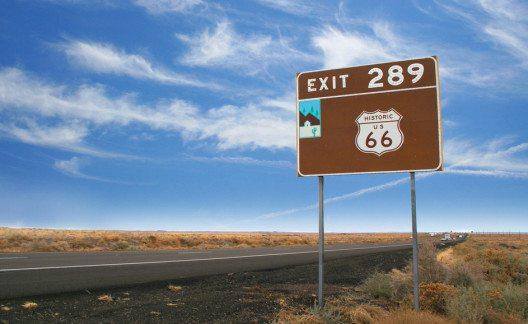 Route 66 von Gallup, New Mexico, nach Flagstaff, Arizona. (Bild: Joao Virissimo – Shutterstock.com)