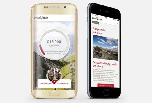Die Wanderbock-App (Bild: Graubünden Ferien)