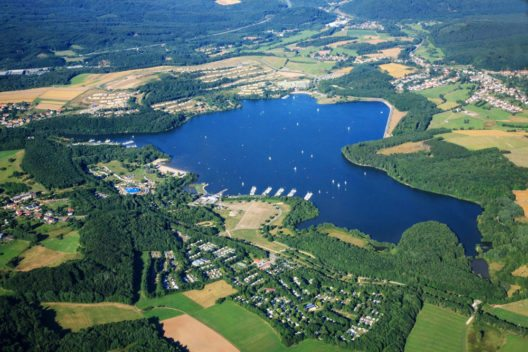 Bostalsee aus der Luft (Bild: Freizeitzentrum Bostalsee)