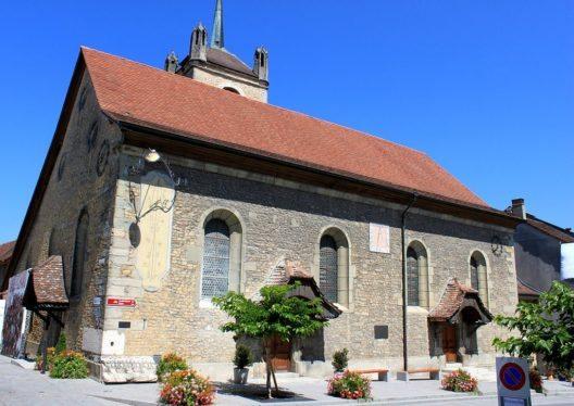 Die reformierte Stadtkirche Sainte Marie Madeleine (Bild: Odrade123, Wikimedia, CC)