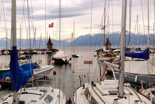 Hafen von Morges (Bild: Pierre Bona, Wikimedia, GNU)