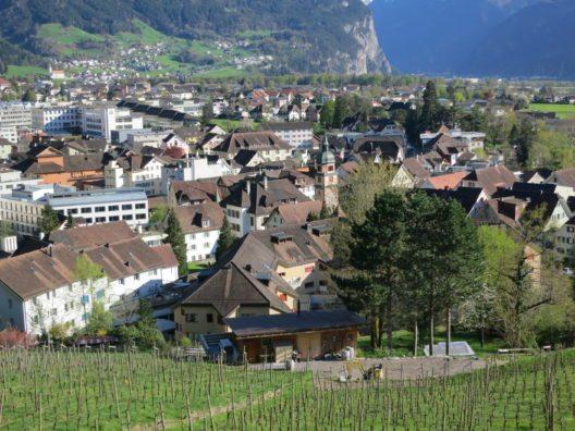 Ortskern vom Kapuzinerkloster, Altdorf (Bild: © Paebi, Wikimedia, CC BY-SA 3.0)