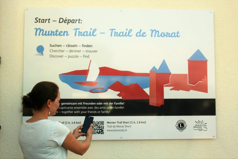 Schnitzeljagd mit Smartphone – ein neues Gruppen-Angebot von Murten Tourismus. (Bild: © Murten Tourismus)