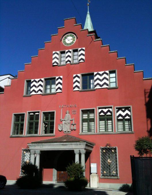 Das Rathaus von Rheineck (Bild: Xenos, Wikimedia, CC)