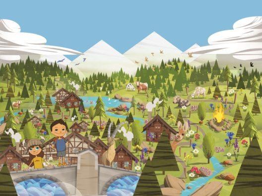 """Erlebniskarte zur Kinder-App """"Turba und Tschepp aus Savognin"""" (Bild: © Savognin Tourismus im Surses)"""